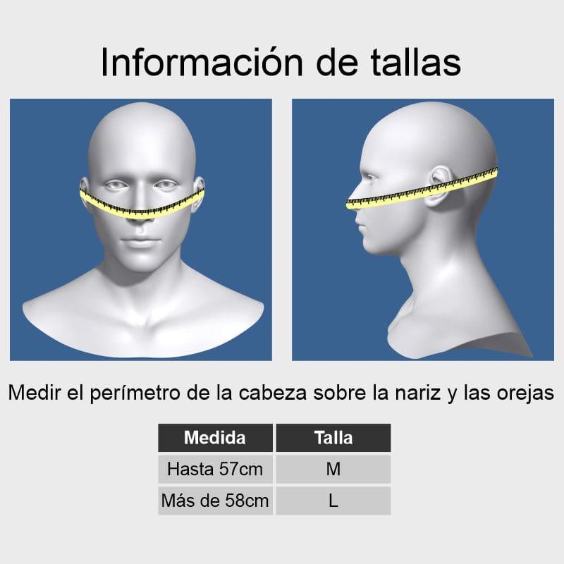 Guía de tallas mascarillas